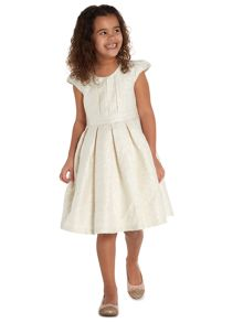 Little Dickins & Jones Girls Sparkly Jacquard dress