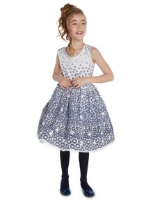 Little Dickins & Jones Girls Daisy print dress