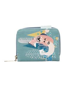 Disaster Nordikka multi coloured fox zip around purse