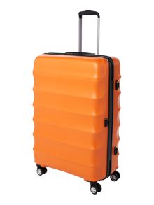Antler Juno large 4 wheel orange roller suitcase