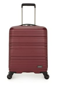 Saturn burgundy 4 wheel hard cabin suitcase
