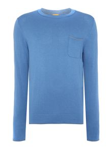 Hugo Boss Krewo Slim Fit Silk Blend Knitted Jumper