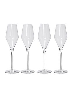 Wine Cellar Set of 4 Champagne Flutes