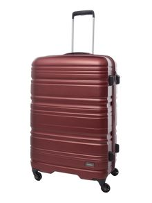 Saturn burgundy 4 wheel hard large suitcase