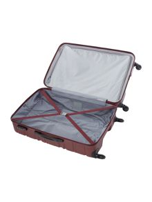 Antler Saturn burgundy 4 wheel hard large suitcase