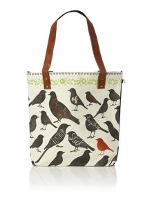 Penny black multi coloured birds tote
