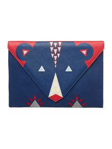 Disaster Dakota multi coloured clutch