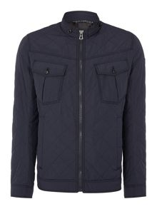 Hugo Boss Okent Slim Fit Zip Up Structured Jacket