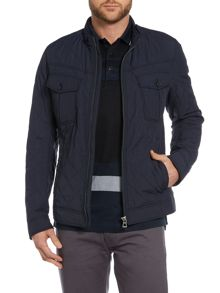 Okent Slim Fit Zip Up Structured Jacket