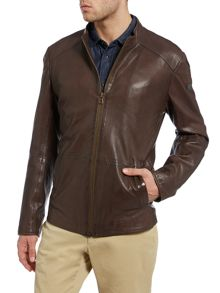 Hugo Boss Jermon Slim Fit Sheep Napa Leather Jacket
