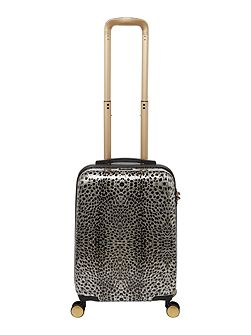 Amure animal print 8 wheel hard cabin suitcase
