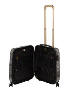 Biba Amure animal print 8 wheel hard cabin suitcase