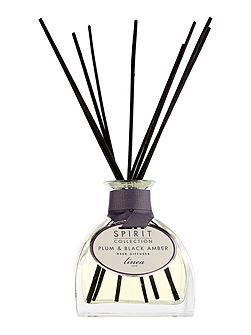 Plum & black amber scented reed diffuser