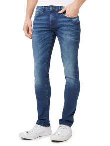 Orange 72 Skinny Fit Mid Wash Stretch Jeans
