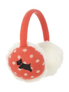 Radley Fleet street knitted ear muffs