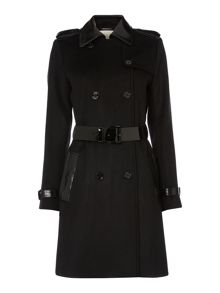 Michael Kors Mix media trench coat