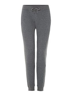 Quilted front drawstring tracksuit bottoms