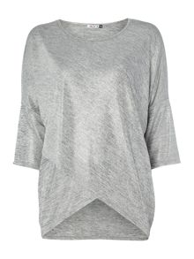 3/4 Sleeve Cross Over Front Knitted Top