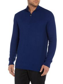 1/4 zip funnel neck jumper