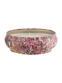 Fig leaf & cassis scented tin candle