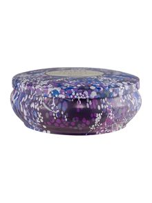 Linea Plum & black amber scented tin candle