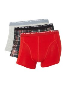 Xmas check and plain trunk 3 pack