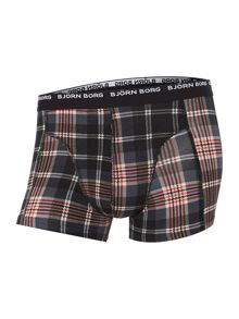 Bjorn Borg check and plain trunk 3 pack
