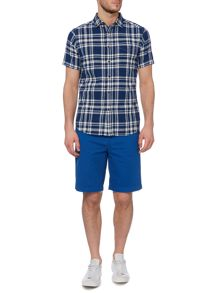 Howick Folger check linen short sleeve shirt
