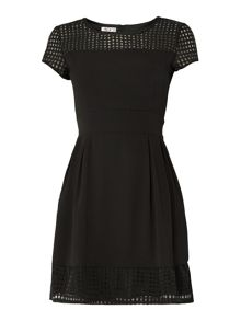 Short Sleeved Fit and Flare Dress