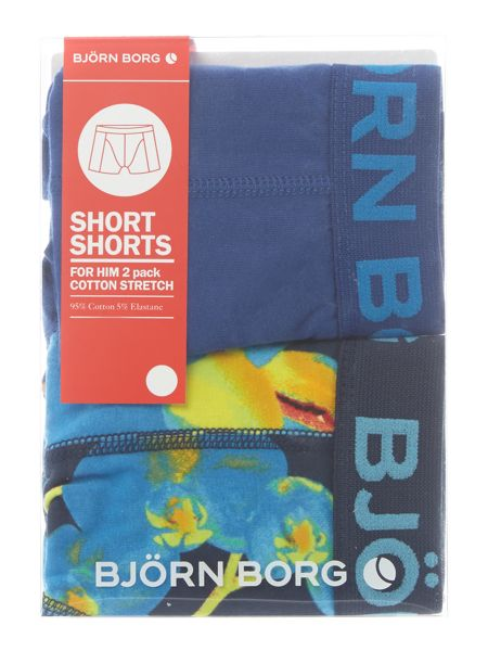 Bjorn Borg Orchid and plain trunk 2 pack