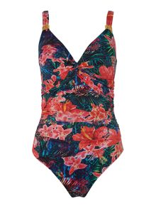 Biba Hibiscus Goddess Twist Swimsuit