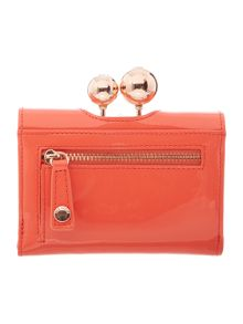 Ted Baker Lottay orange small patent flap over purse