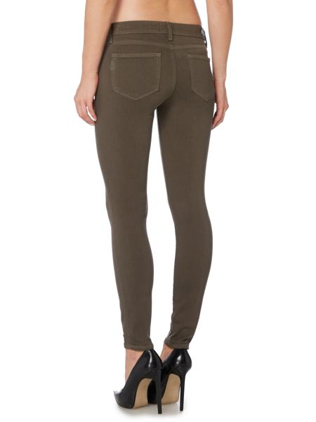 Paige Verdugo ultra skinny ankle jean in faded olive