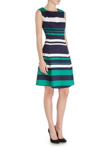 Dickins & Jones Stripe Fit and Flare Dress