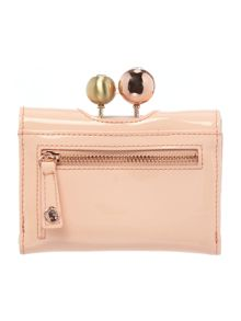 Ted Baker Lottay peach small patent flap over purse