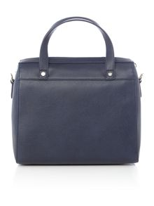 Eco leather navy tote bag