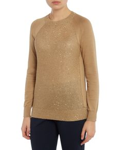 Michael Kors Raglan sleeve sequin knit jumper