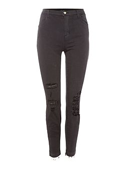 Alana high waist skinny jean in demented black