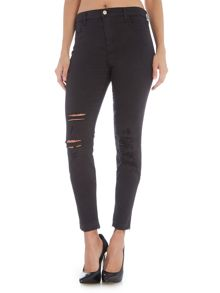 J Brand Alana high waist skinny jean in demented black