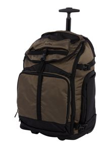 Antler Tundra khaki trolley backpack