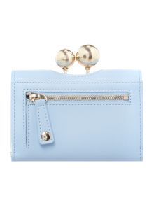 Ted Baker Lillae light blue small matte flap over purse
