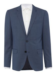Hugo Huge Genius Slim Micro Check Suit