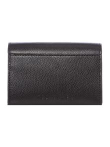 Carley black small flap over purse