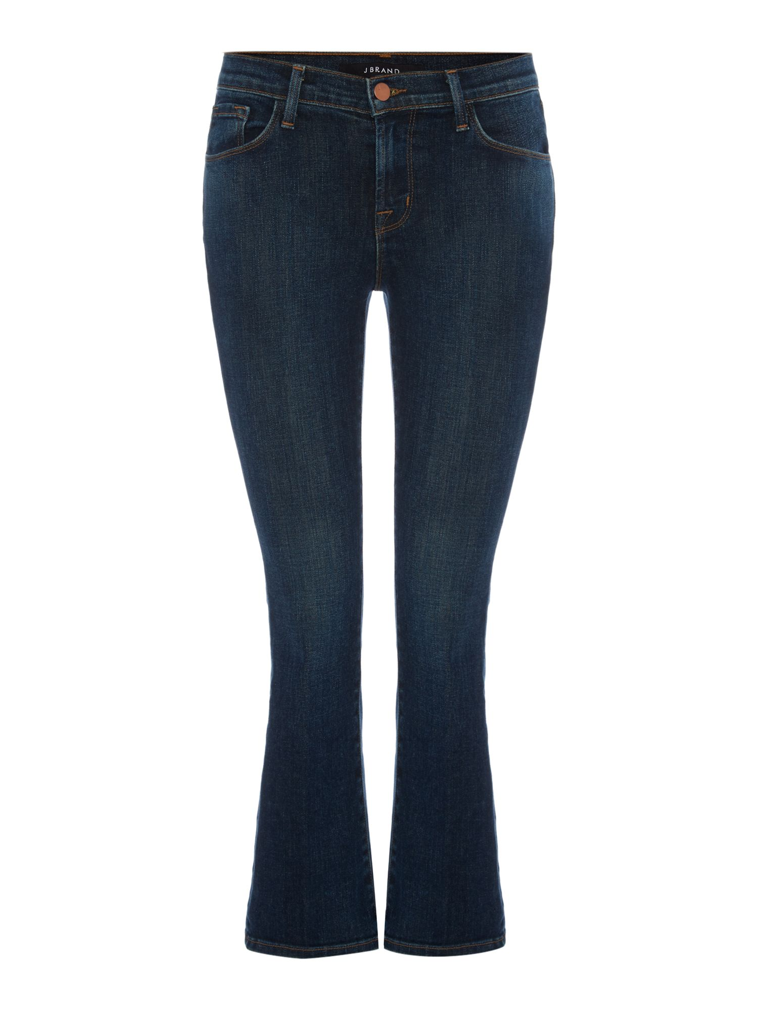 J Brand J Brand Selena mid rise cropped bootcut jean in lonesome, Denim Mid Wash