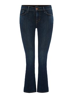 Selena mid rise cropped bootcut jean in lonesome