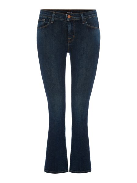 J Brand Selena mid rise cropped bootcut jean in lonesome