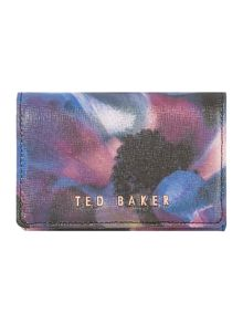 Ted Baker Elibee black floral small flap over purse