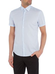 Hugo Joeyno Slim Short Sleeve Fine Stripe Shirt