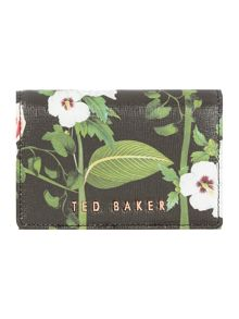 Ted Baker Berriz black floral small flap over purse