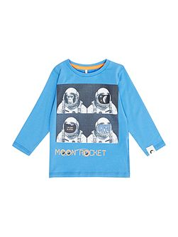 Boys Monkey photo graphic tee